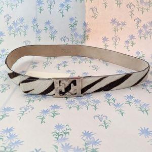 NEW Vintage Escada Zebra Calf Hair Belt 34 - 44